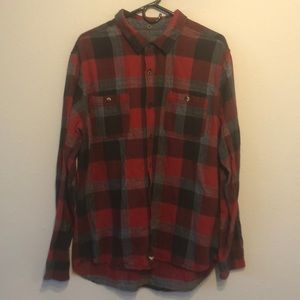 Modern amusement button down flannel